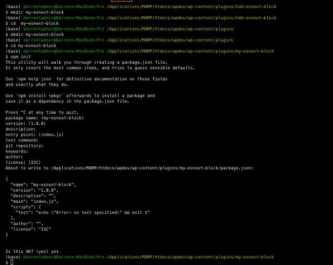 npm-init code