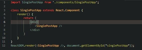React Entry File